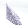 Kép 3/5 - Textilhatású szalvéta 40x40 cm Bosse - púderkék - 86757