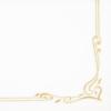 Kép 5/5 - Textilhatású szalvéta 40x40 cm Color line - arany - 88342