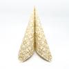 Kép 1/5 - Textilhatású szalvéta 40x40 cm Claudio - pezsgő/arany - 86741