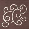 Kép 4/7 - Textilhatású szalvéta 40x40 cm Flow-up - barna/pezsgő - 88313