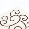 Kép 6/7 - Textilhatású szalvéta 40x40 cm Flow-up - barnapezsgő - 88313