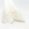 Kép 4/5 - Textilhatású szalvéta 40x40 cm Doves - arany - AAN005309
