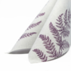 Kép 4/6 - Textilhatású szalvéta 40x40 cm Fern Leaf - viola - AAN005624