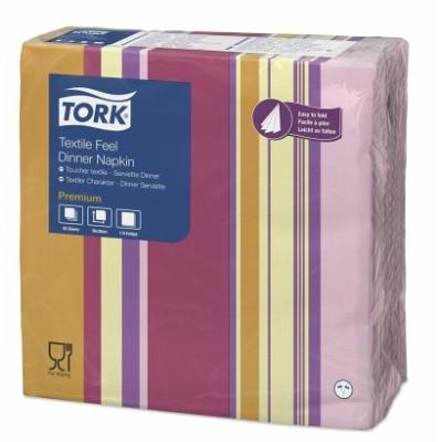 Textilhatású szalvéta 40x40 cm Tork - Sweet Milano Dinner