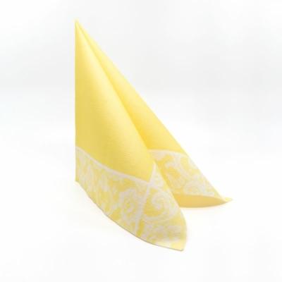 Textilhatású szalvéta 40x40 cm Csipkemintás - vanília - k404f86630718