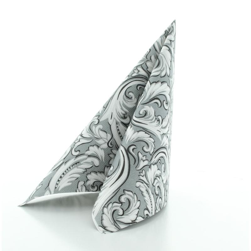 Papírszalvéta 40x40 cm 3 réteg Cascade szürke