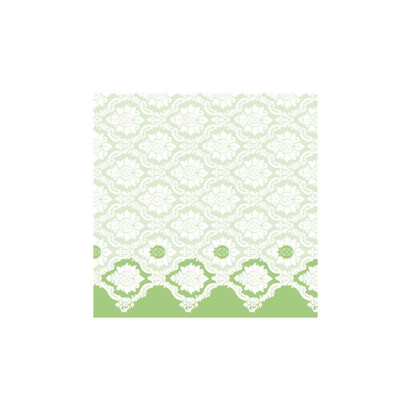 Textilhatású szalvéta 40x40 cm Mandy - világosszöld