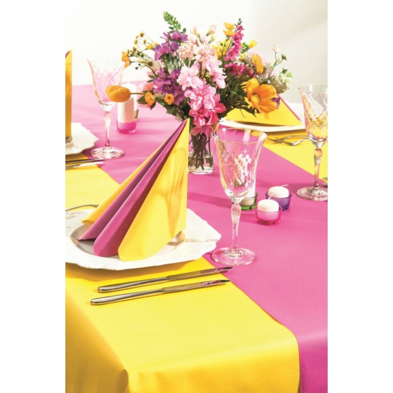 Textilhatású szalvéta 40x40 cm - rózsa/pink