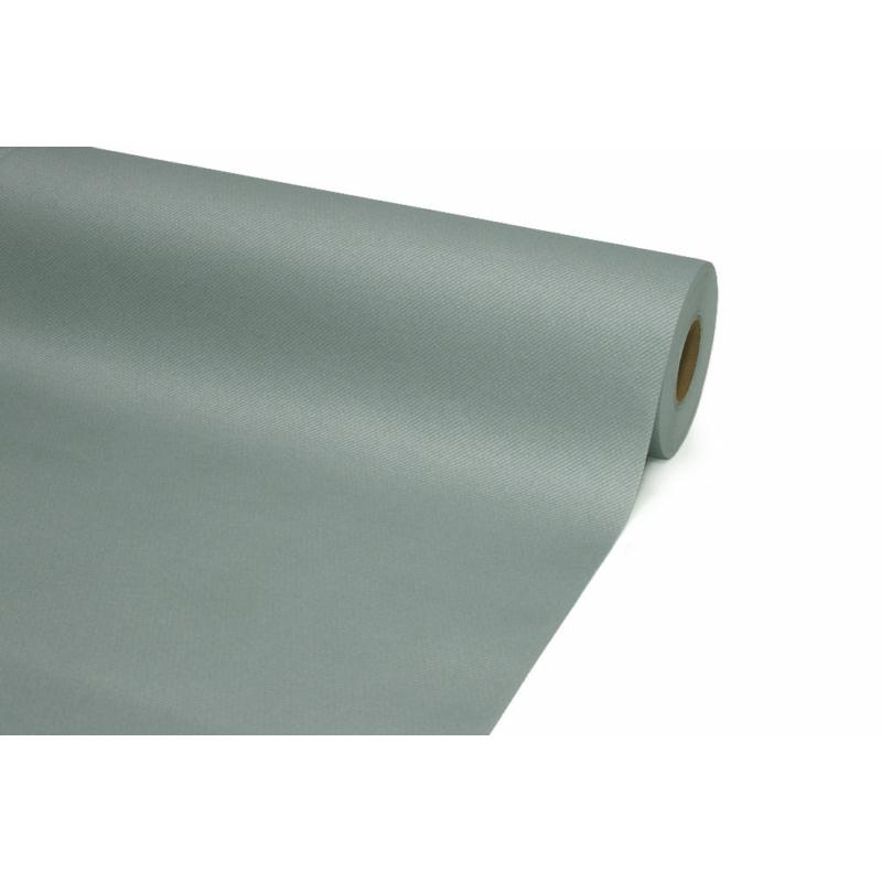 Asztali futó 40 cm x 24 m textilhatású - szürke