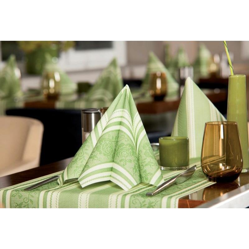 Asztali futó 40 cm x 24 m textilhatású Ina - zöld