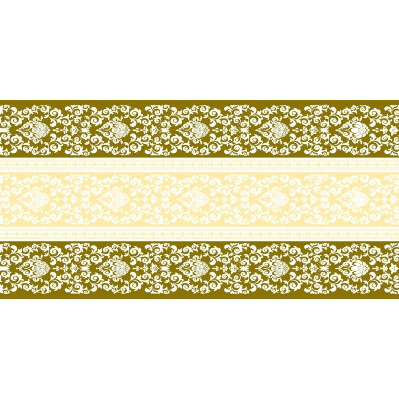 Asztali futó 40 cm x 24 m textilhatású Pascal - arany/krém