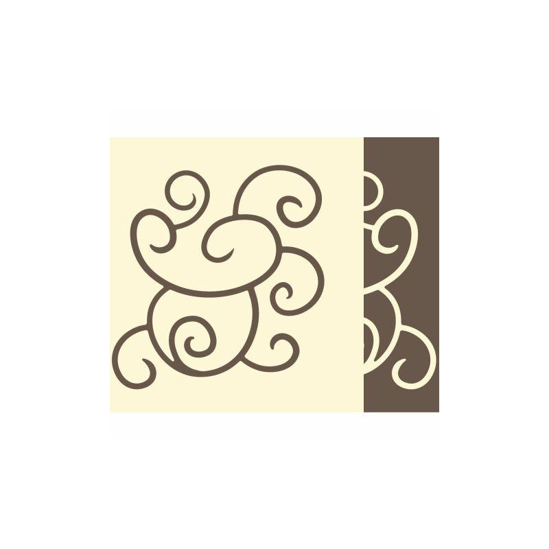 Textilhatású szalvéta 40x40 cm Flow-up - barnapezsgő - 88313