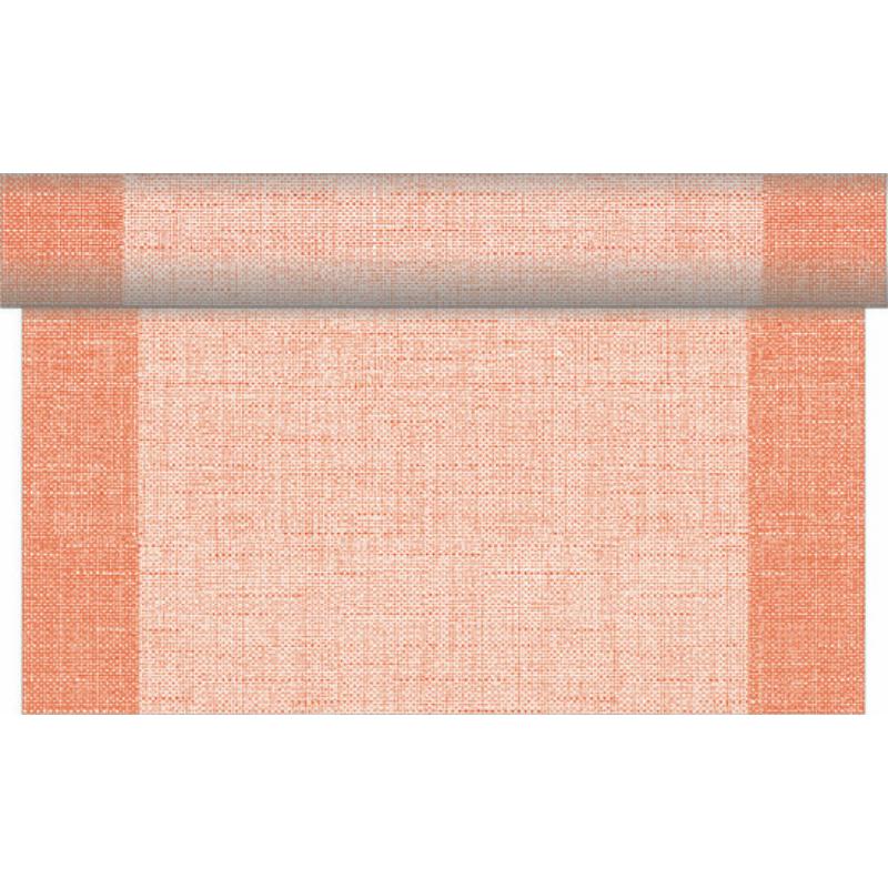 Asztali futó 40 cm x 24 m textilhatású Mailand - terrakotta