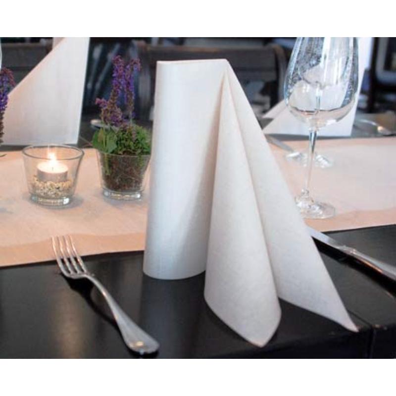 Asztali futó 40 cm x 24 m textilhatású Mailand - világosbarna