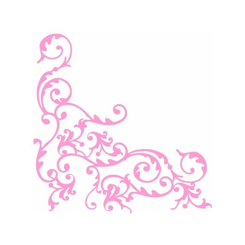 Textilhatású szalvéta 40x40 cm Pomp - rózsa/fehér