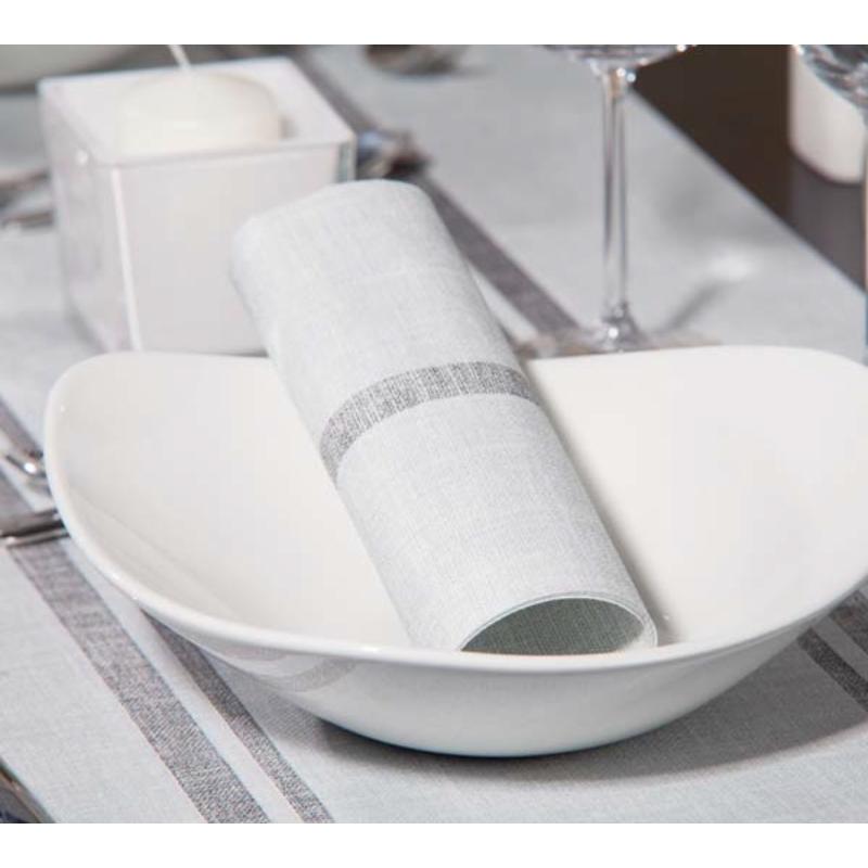 Textilhatású szalvéta 40x40 cm Joe szürke/fekete