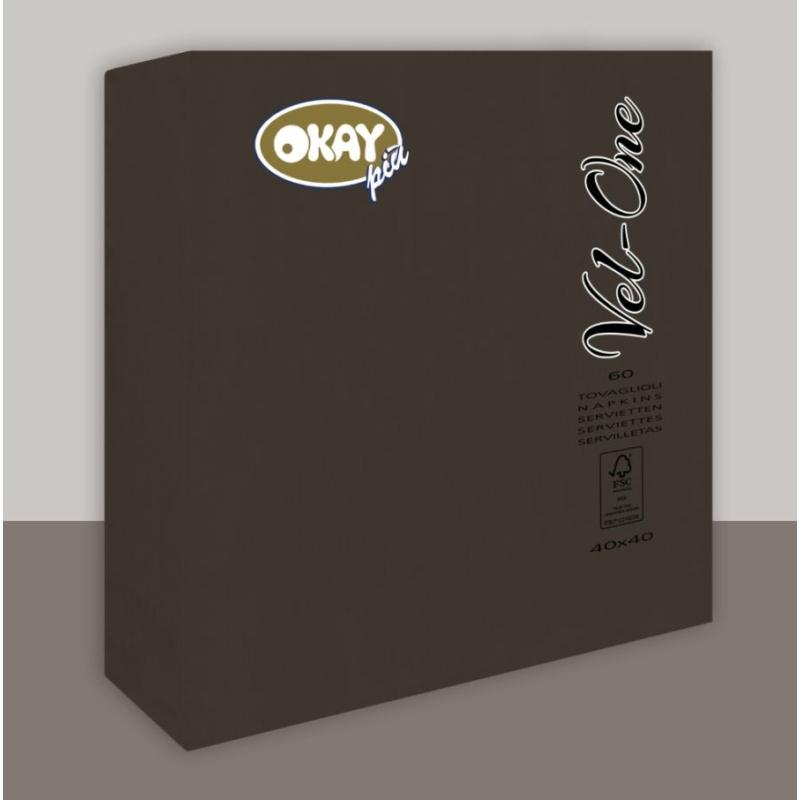 Vel-One szalvéta 40x40 cm – fekete