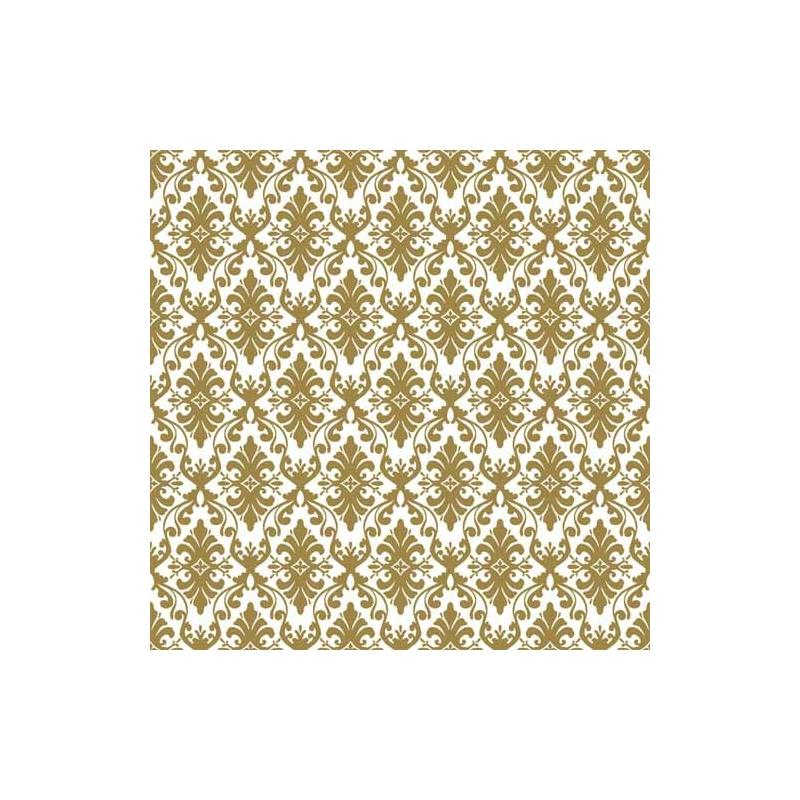 Asztali futó 40 cm x 24 m textilhatású Vera - fehér/arany