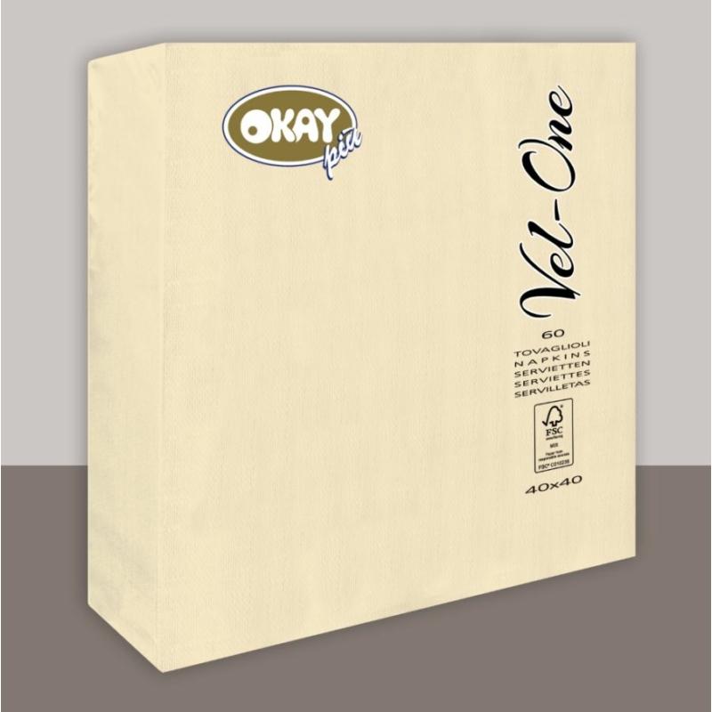 Vel-One szalvéta 40x40 cm – csont