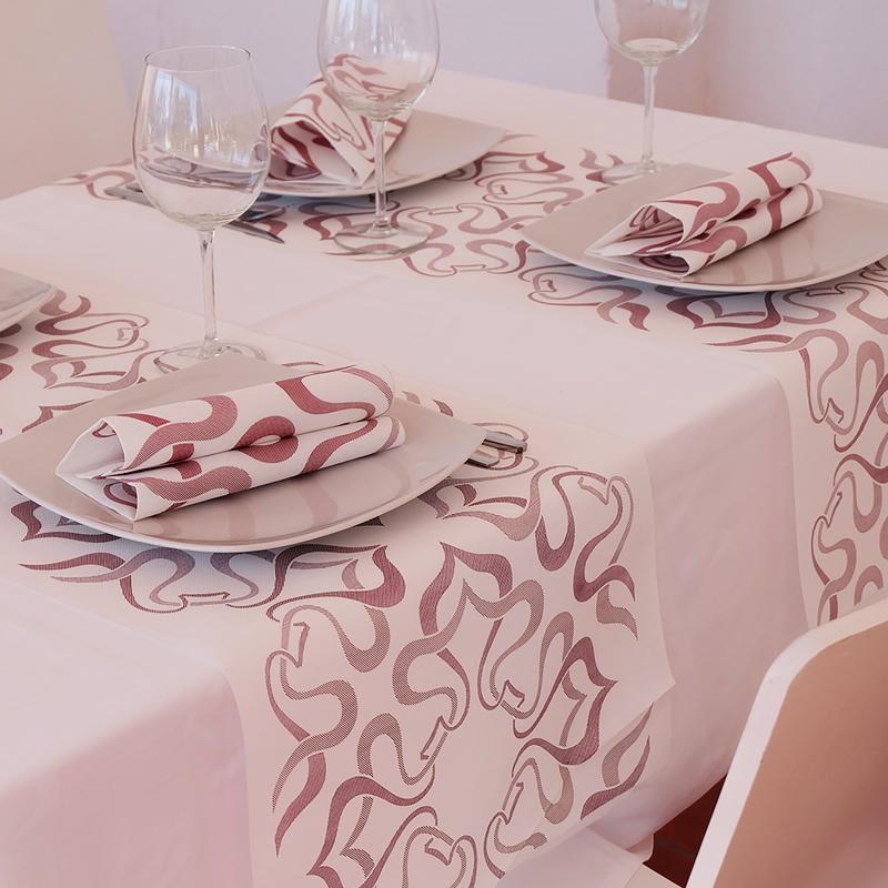 Textilhatású szalvéta 40x40 cm Vintage - fehér/bordó - 40blvbu