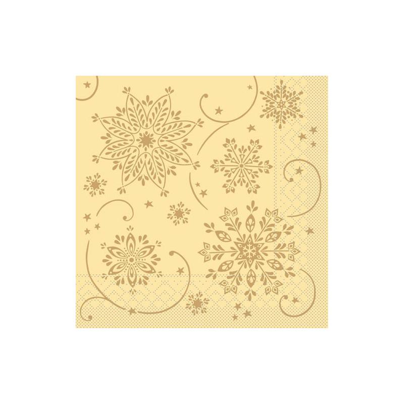 Karácsonyi textilhatású szalvéta 40x40 Cristal - krém