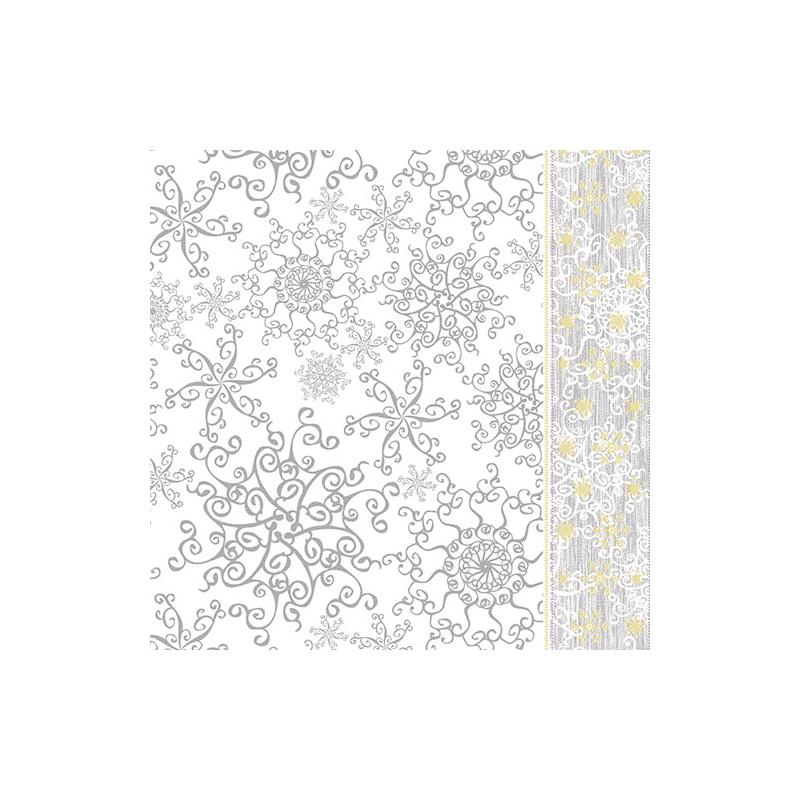 Mikrotextil hatású szalvéta 40x40 cm Etoile - ezüst