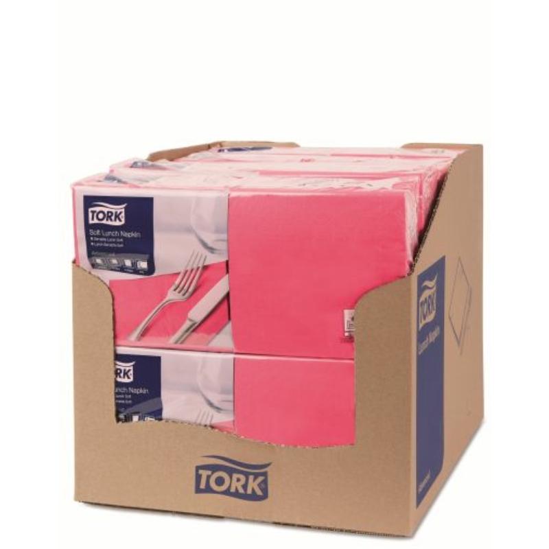 Papírszalvéta 3 rétegű 33x33 cm Tork rózsaszín