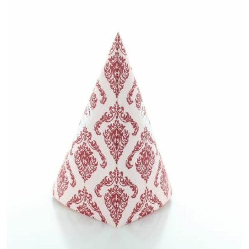 Textilhatású szalvéta 40x40 cm Georgio - bordó