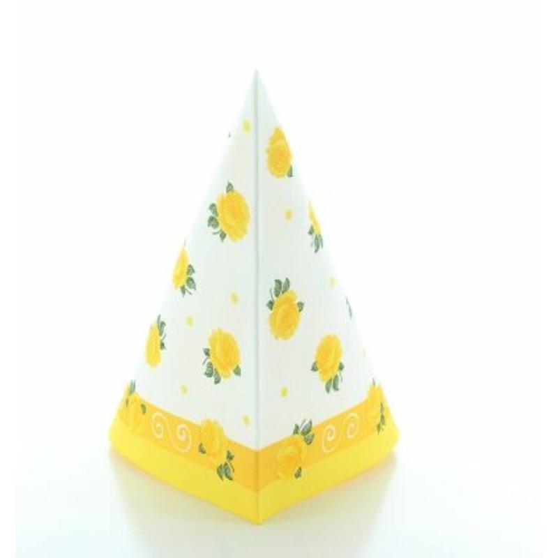Textilhatású szalvéta 40x40 cm Rosita - sárga