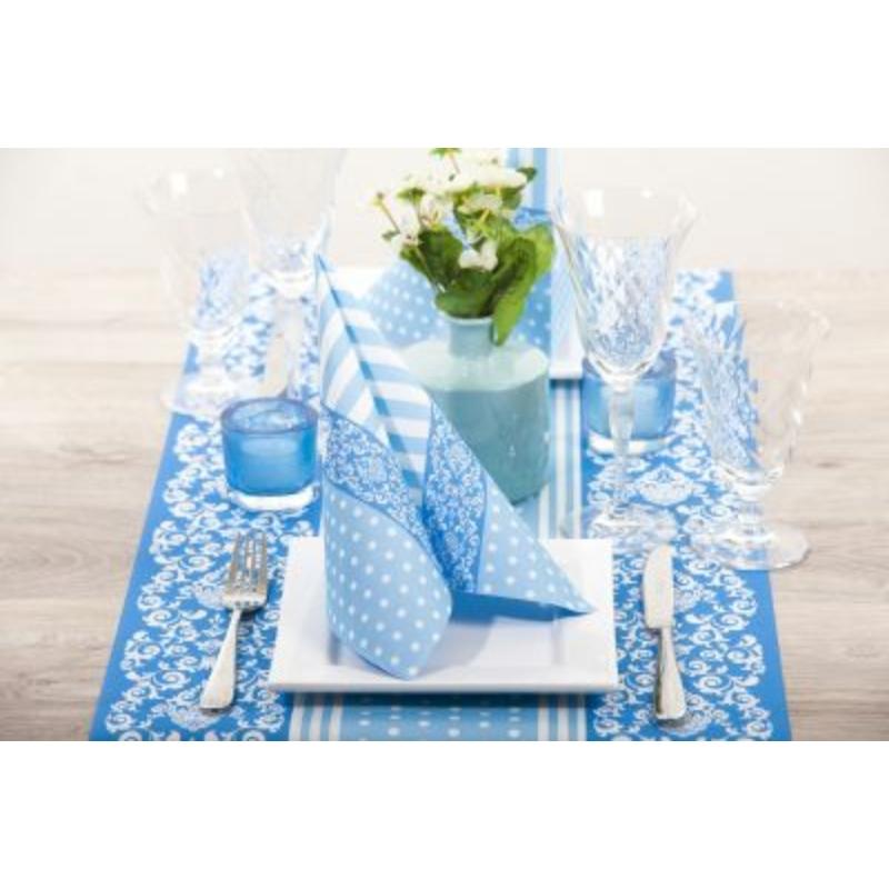 Textilhatású szalvéta 40x40 cm Bine - halványkék