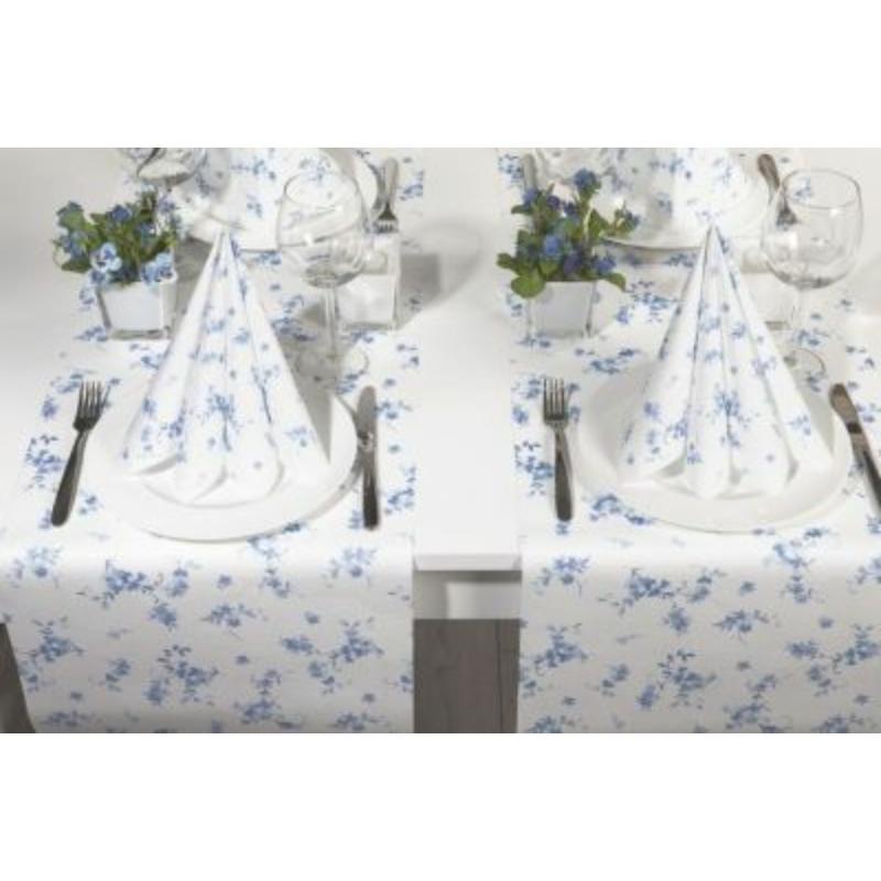 Textilhatású szalvéta 40x40 cm Bonnie - kék