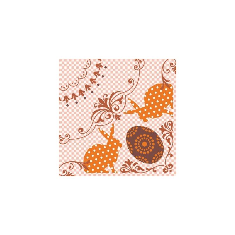 Textilhatású szalvéta 40x40 cm Rabea - narancs