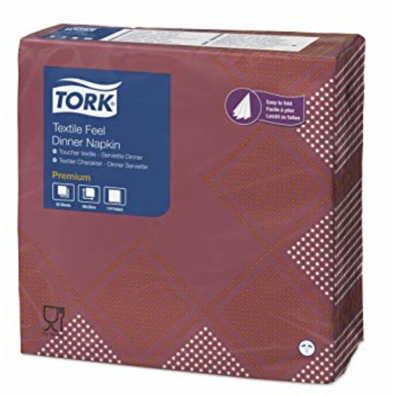 Textilhatású szalvéta 40x40 cm Tork - Retro Oxford Dinner