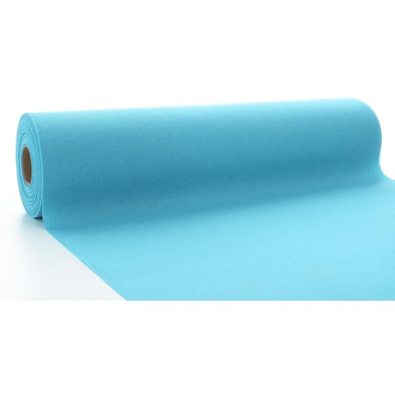 Asztali futó 40 cm x 24 m textilhatású - felhő kék
