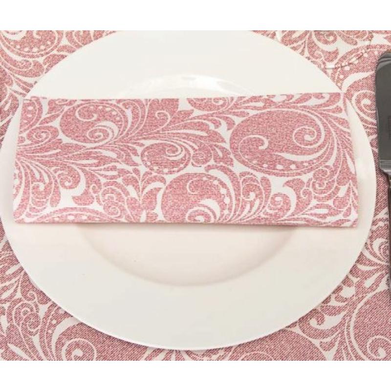 Asztali futó 40 cm x 24 m textilhatású Jordan - bordó