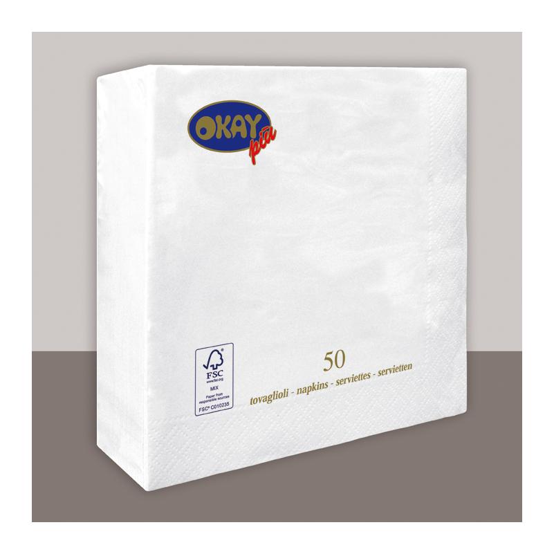 Papírszalvéta 40x40 cm 2 réteg hófehér