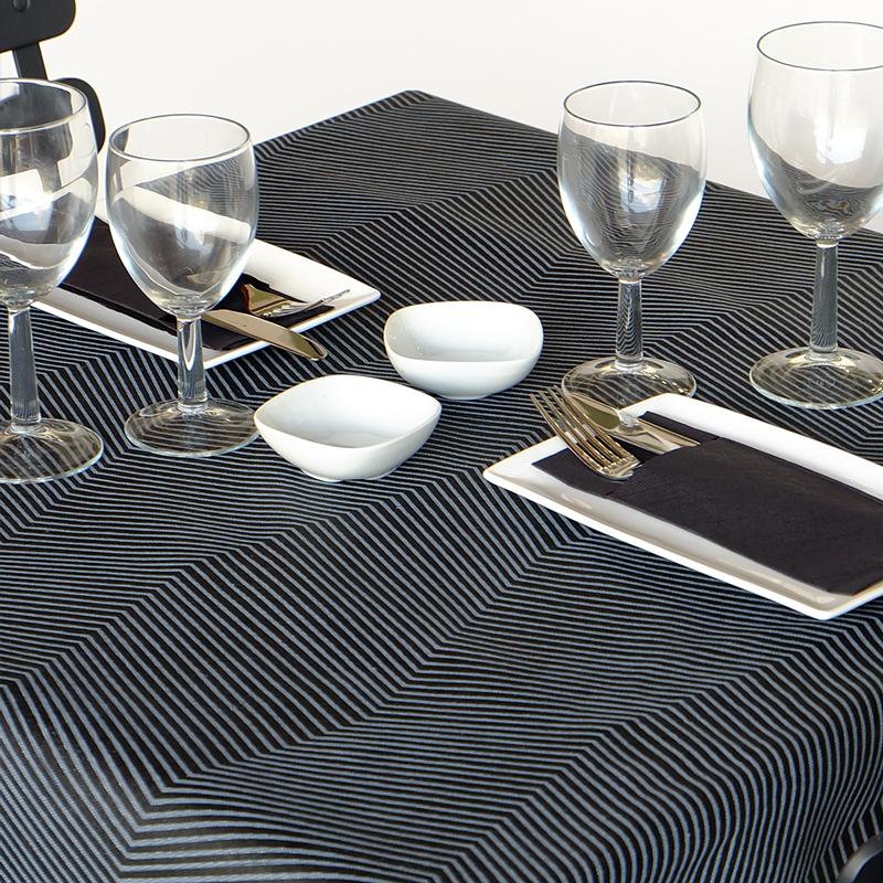Asztali futó 40 cm x 48 m Line - fekete