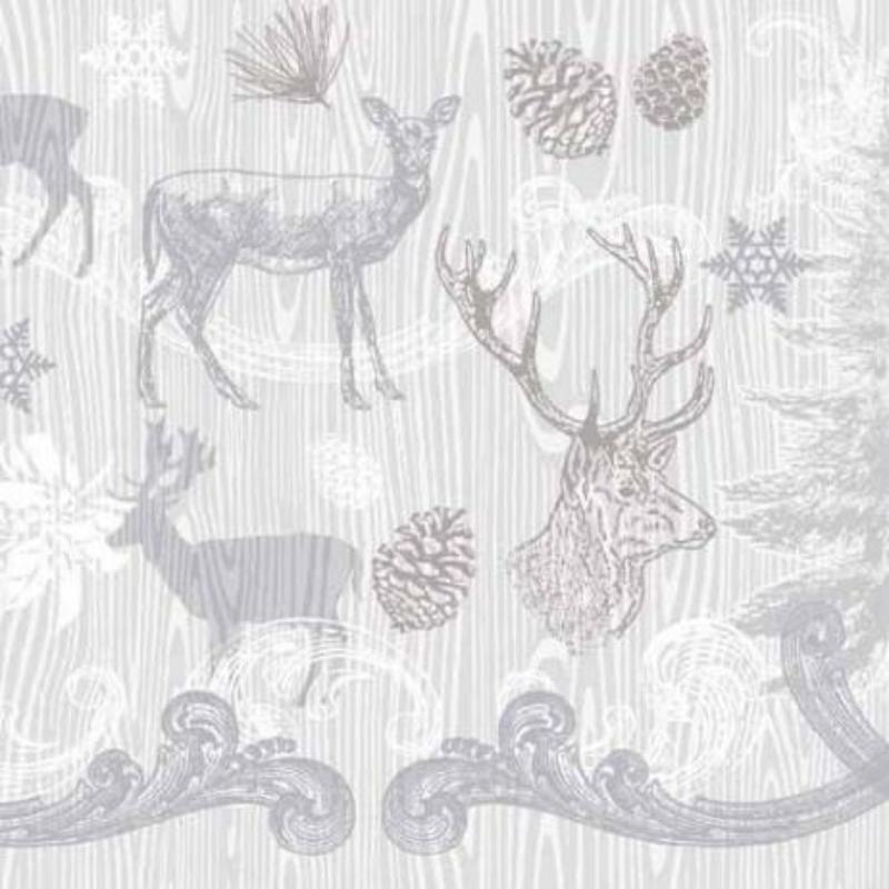 Textilhatású szalvéta 40x40 cm Bruno - ezüst/szürke
