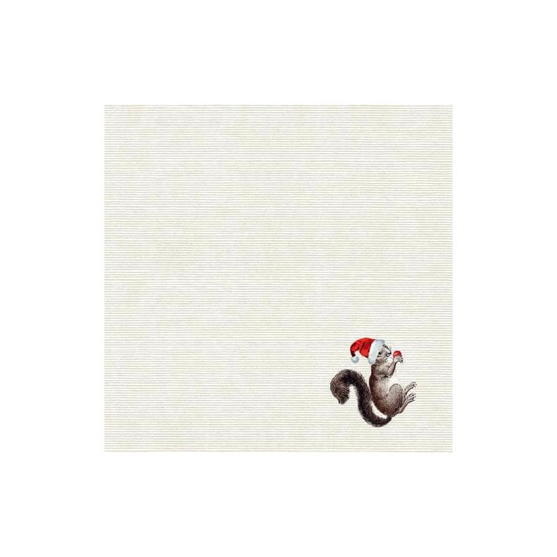 Textilhatású szalvéta 40x40 cm Knut - szürke