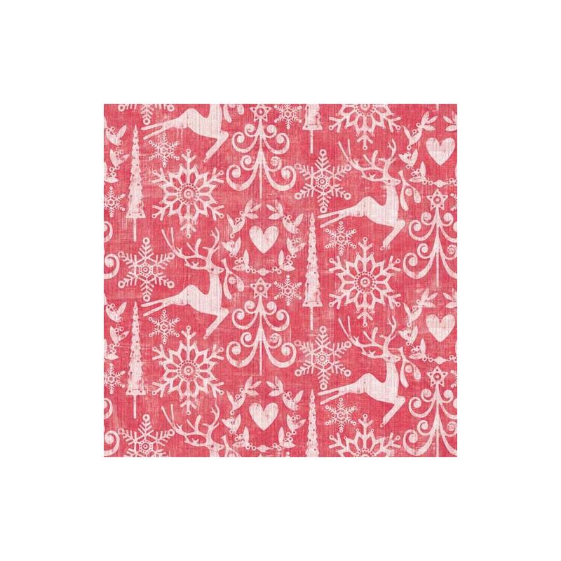 Textilhatású szalvéta 48×48 cm Bob - piros