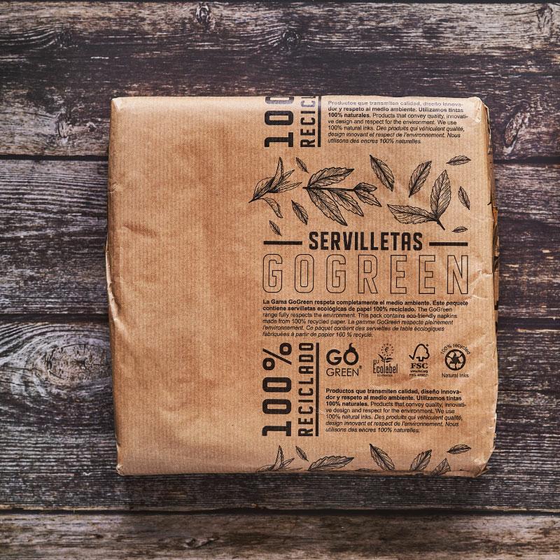 Tissue Eco 40x40 cm szalvéta - natúr