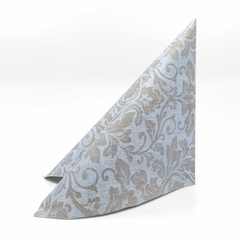 Mikrotextil szalvéta 40x40 cm Baroque - halványkék/barna