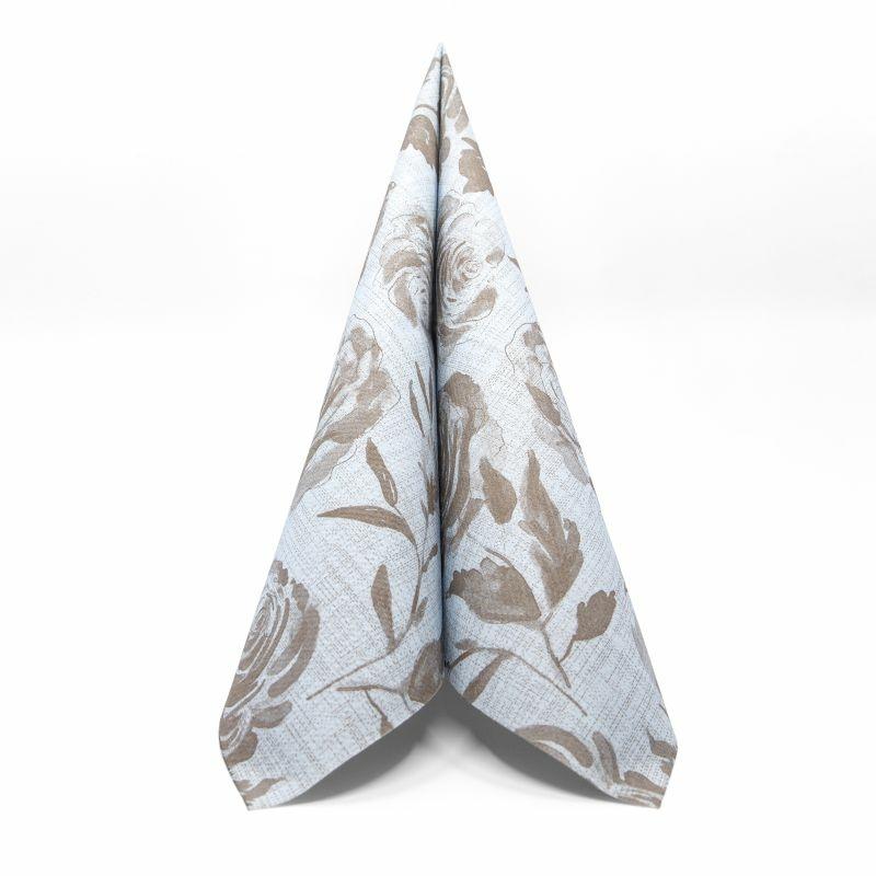 Textilhatású szalvéta 44x44 cm Florence - kék