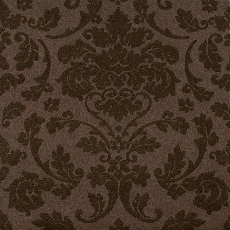 Textilhatású szalvéta 40x40 cm Victoria - kakaó - p40-340