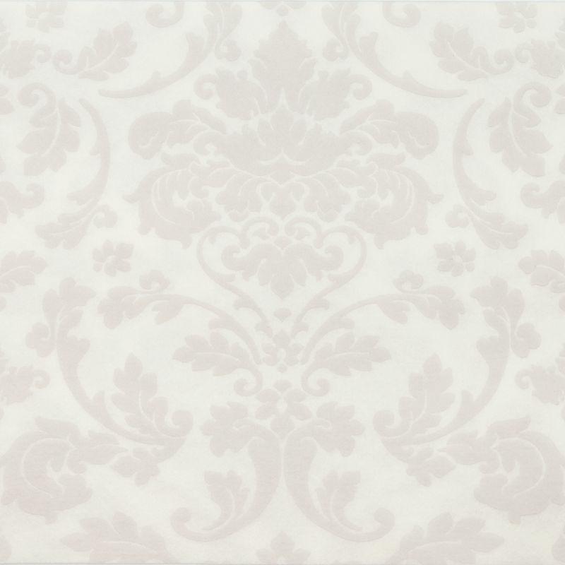 Textilhatású szalvéta 40x40 cm Victoria - fehér - p40-410