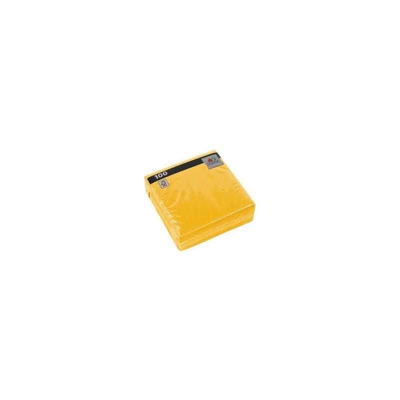 Papírszalvéta 33x33 cm 1 réteg sárga