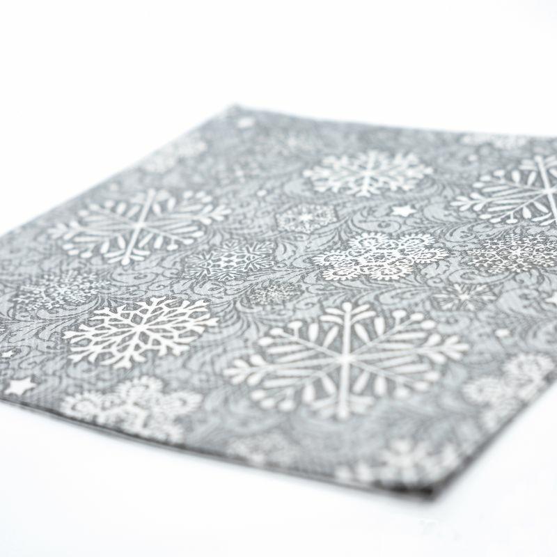 Textilhatású szalvéta 40x40 cm Steven - ezüstszürke - 89004