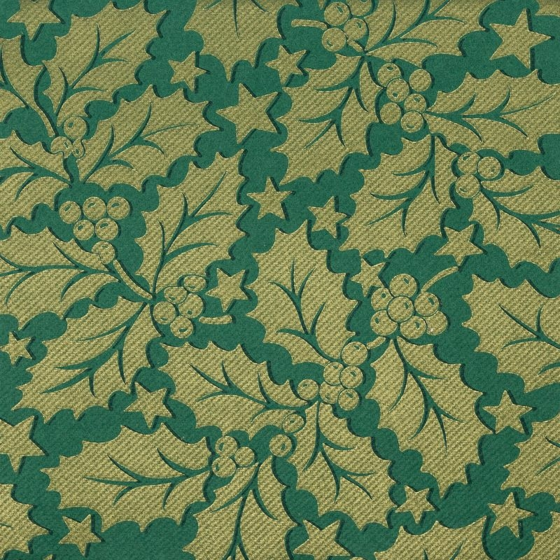 Textilhatású szalvéta 40x40 cm Michael - zöld/arany - 90777