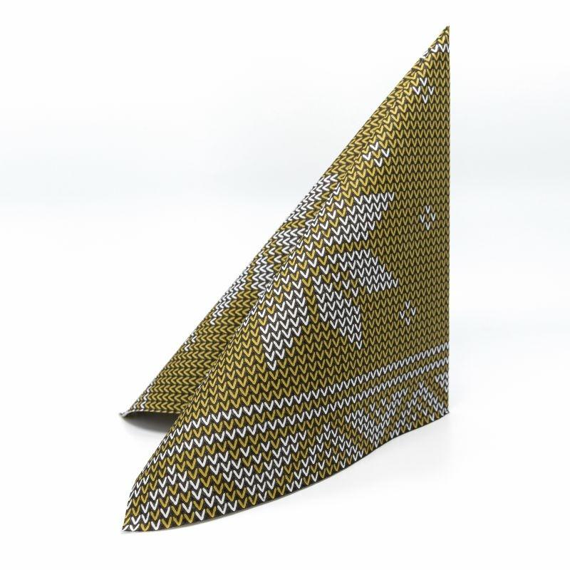 Karácsonyi textilhatású szalvéta 40x40 cm Mick - arany - 95241