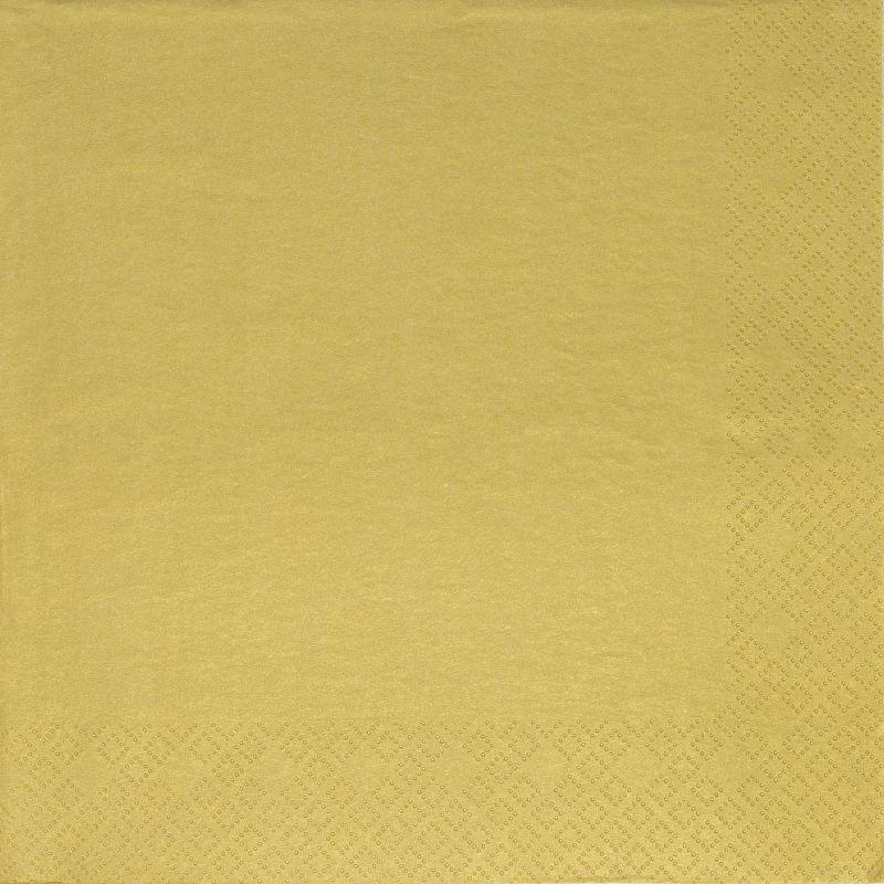 Papírszalvéta 3 rétegű 33x33 cm arany - 88955